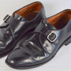 Allen Edmonds Concord Black Monk Strap Loafers 11C